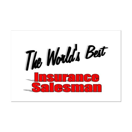 """The World's Best Insurance Salesman"" Mini Poster"