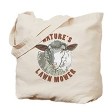 Sheep Lawn Mower Tote Bag