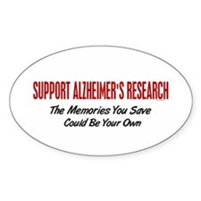 Support Alzheimer's Research 1 Oval Decal
