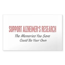 Support Alzheimer's Research 1 Rectangle Decal