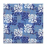 Swanky Mo Blues Tile Coaster