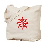 Red Guiding Star Tote Bag