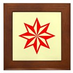 Red Guiding Star Framed Tile