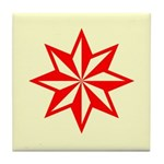Red Guiding Star Tile Coaster