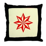 Red Guiding Star Throw Pillow
