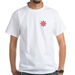 Red Guiding Star White T-Shirt