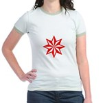 Red Guiding Star Jr. Ringer T-Shirt