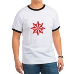 Red Guiding Star Ringer T