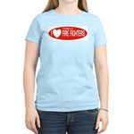I Love Female Fire Fighters Women's Pink T-Shirt