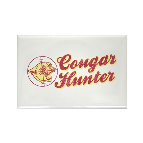 Cougar Hunter Rectangle Magnet