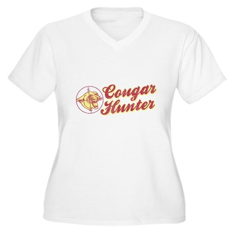 Cougar Hunter Plus Size V-Neck Shirt