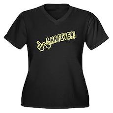 Whatever! Plus Size V-Neck Shirt