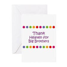Thank Heaven for Big Brothers Greeting Cards (Pk o