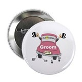 Gay Grooms Pink Limo 2.25&quot; Button