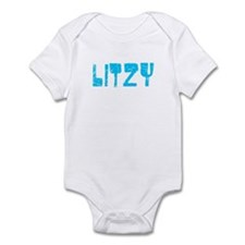 Litzy Faded (Blue) Infant Bodysuit