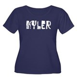 Kyler Faded (Silver) Women's Plus Size Scoop Neck