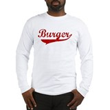 Burger (red vintage) Long Sleeve T-Shirt