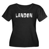 Landon Faded (Silver) Women's Plus Size Scoop Neck