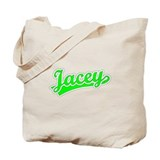 Retro Jacey (Green) Tote Bag
