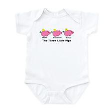Unique Three little pigs Infant Bodysuit