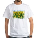 Sunflower Cluster White T-Shirt