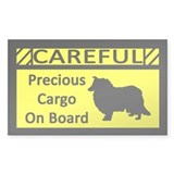 Precious Cargo Rough Collie Sticker (Rect)