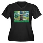 Bridge /Cairn Terrier (w) Women's Plus Size V-Neck