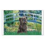 Bridge /Cairn Terrier (w) Sticker (Rectangle)