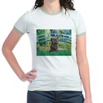 Bridge /Cairn Terrier (w) Jr. Ringer T-Shirt