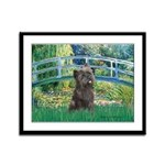 Bridge /Cairn Terrier (w) Framed Panel Print