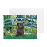 Bridge /Cairn Terrier (w) Greeting Card