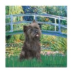 Bridge /Cairn Terrier (w) Tile Coaster