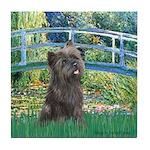Bridge /Cairn Terrier (w) Tile Coaster