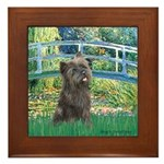 Bridge /Cairn Terrier (w) Framed Tile