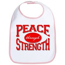 Peace Through Strength Bib