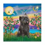 Guardian / Cairn Terrier (brin) Tile Coaster
