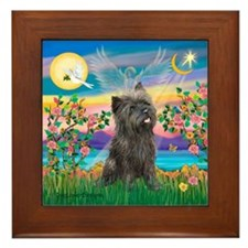 Guardian / Cairn Terrier (brin) Framed Tile