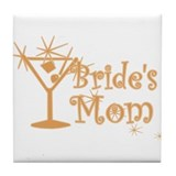 Orange C Martini Bride's Mom Tile Coaster