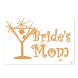 Orange C Martini Bride's Mom Postcards (Package of