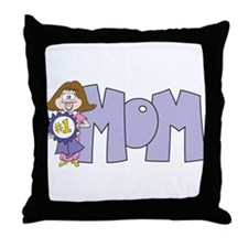 #1 Mom (3) Throw Pillow