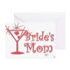 Red C Martini Bride's Mom Greeting Cards (Pk of 10