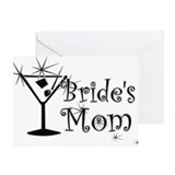 Black C Martini Bride's Mom Greeting Card
