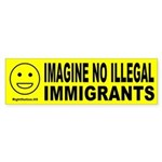 Imagine No Illegal Immigrants Bumper Sticker