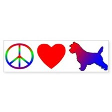 Peace Love Cairn Terrier Bumper Bumper Sticker