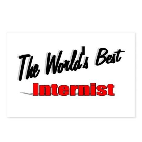"""The World's Best Internist"" Postcards (Package of"