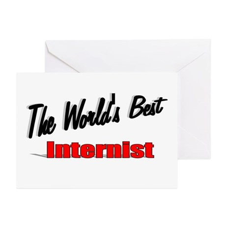 """The World's Best Internist"" Greeting Cards (Pk of"