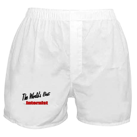 """The World's Best Internist"" Boxer Shorts"