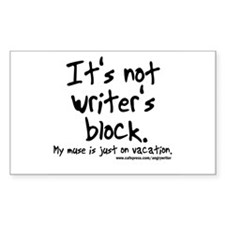 Writer's Block Rectangle Sticker 50 pk)