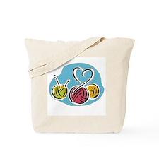 Yarn Heart Tote Bag