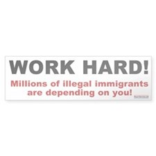 Work Hard for Illegals Bumper Bumper Sticker